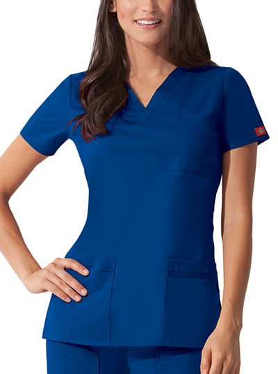 "Gen Flex Women's ""Youtility"" V-Neck Top Blue"
