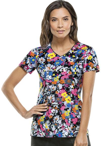 Dickies Gen Flex Women's V-Neck Top Fabulous Floral