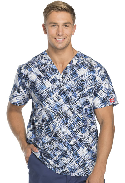 Dickies Prints Unisex Unisex V-Neck Top Breaking Plaid Royal