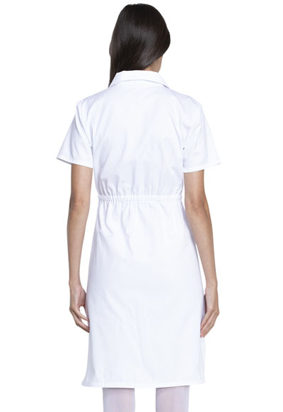 b75b151be0807 Dickies Professional Whites Button Front Dress in White from Dickies ...