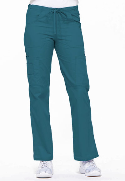 EDS Signature Women's Low Rise Drawstring Cargo Pant Blue