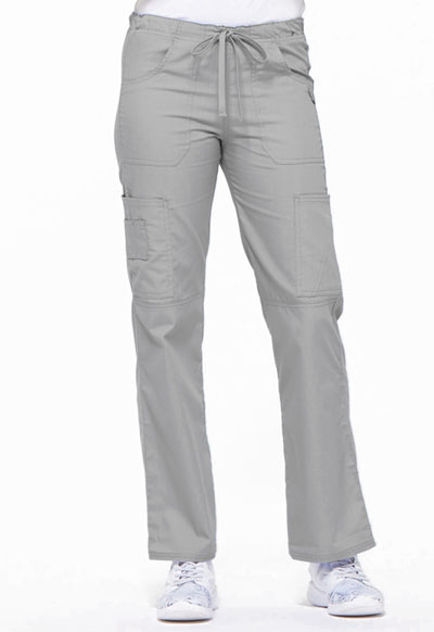 EDS Signature Women's Low Rise Drawstring Cargo Pant Gray