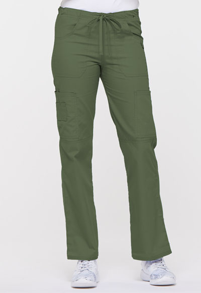 EDS Signature Women's Low Rise Drawstring Cargo Pant Green