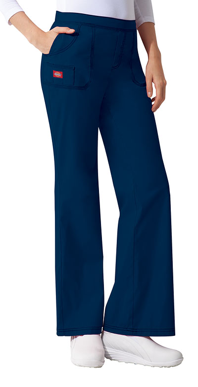Dickies Gen Flex Women's Mid Rise Pull-On Pant Blue