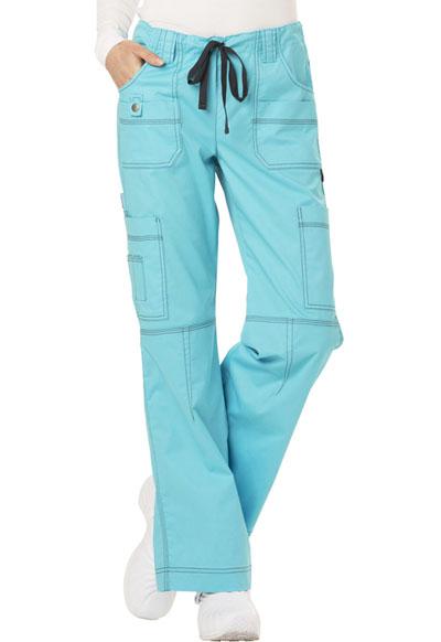Dickies Gen Flex Women\'s Low Rise Drawstring Cargo Pant Blue
