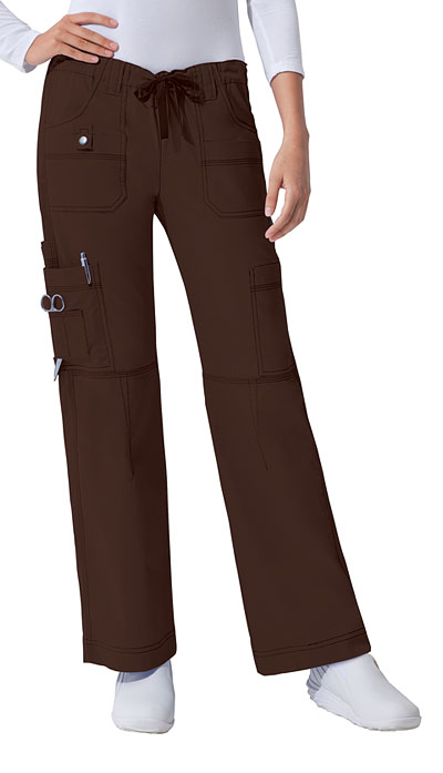 Dickies Gen Flex Women\'s Low Rise Drawstring Cargo Pant Brown