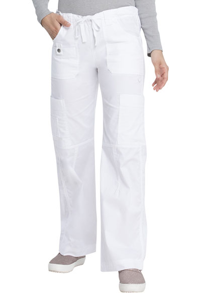 Dickies Gen Flex Women\'s Low Rise Drawstring Cargo Pant White