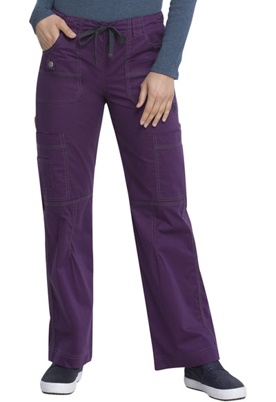 Gen Flex Women Low Rise Drawstring Cargo Pant Purple