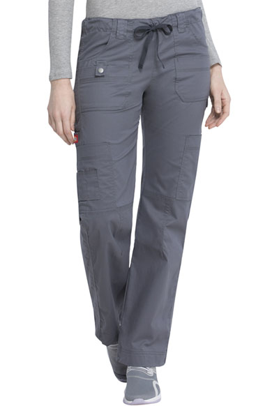 Gen Flex Women's Low Rise Drawstring Cargo Pant Gray