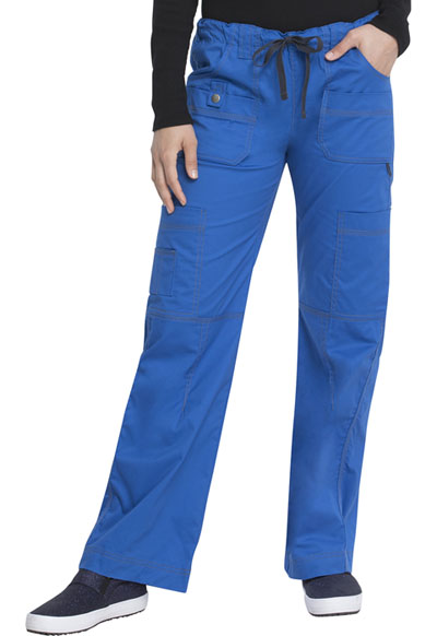 Gen Flex Women's Low Rise Drawstring Cargo Pant Blue