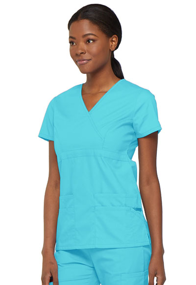 9d7857f0588 Dickies EDS Signature Mock Wrap Top in Turquoise from Dickies Medical