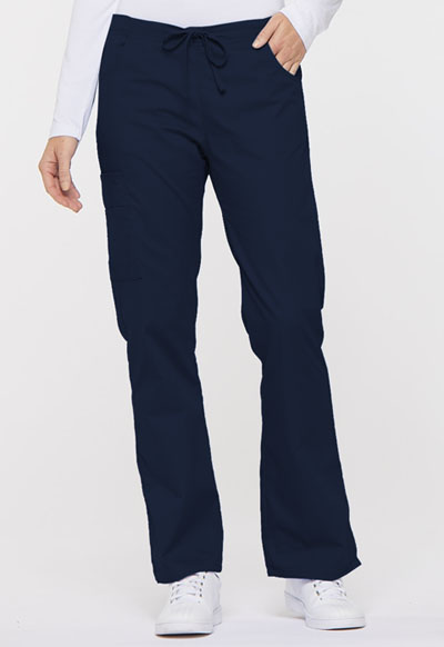 EDS Signature Women's Mid Rise Drawstring Cargo Pant Blue