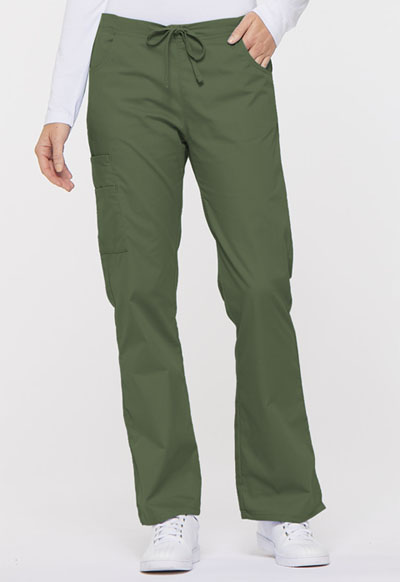 Dickies EDS Signature Women's Mid Rise Drawstring Cargo Pant Green