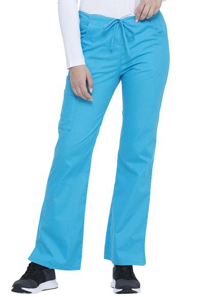 Dickies Scrubs Mid-Rise Women/'s Cargo Pants 86206 Riviera Blue RVBZ Dickies EDS