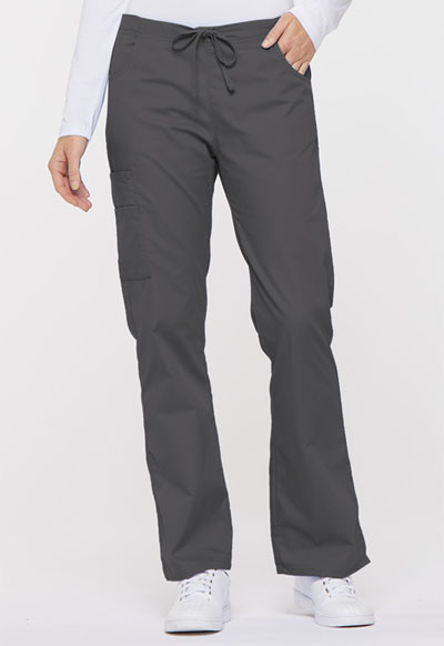 EDS Signature Women's Mid Rise Drawstring Cargo Pant Gray