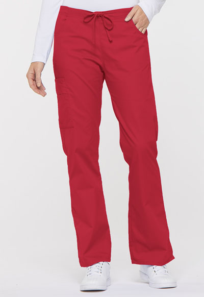 Dickies EDS Signature Women's Mid Rise Drawstring Cargo Pant Red