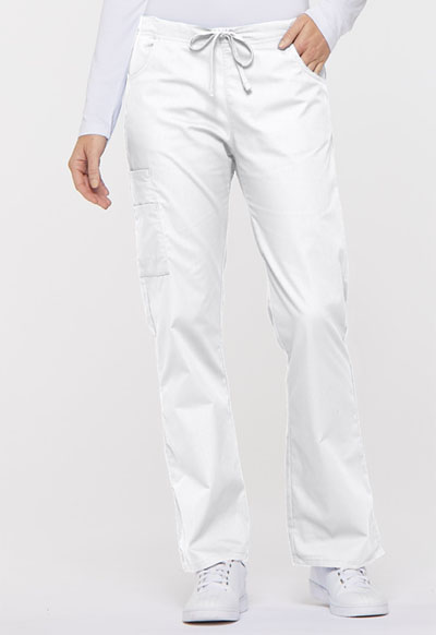 Dickies EDS Signature Women's Mid Rise Drawstring Cargo Pant White