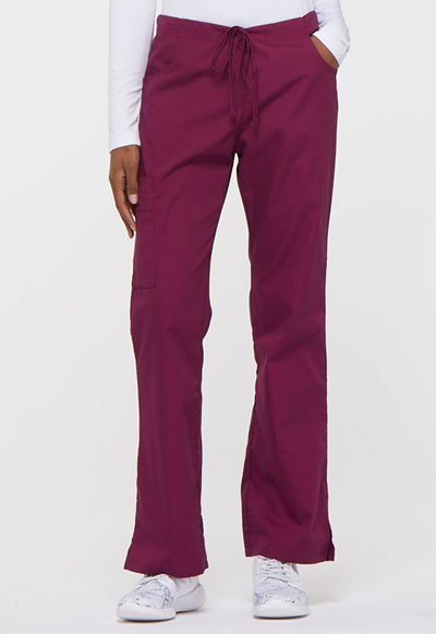 EDS Signature Women's Mid Rise Drawstring Cargo Pant Red