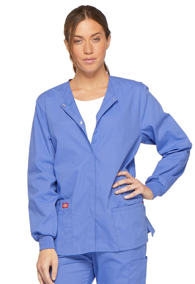 EDS Signature Women Snap Front Warm-Up Jacket Blue