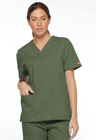 EDS Signature Women V-Neck Top Green