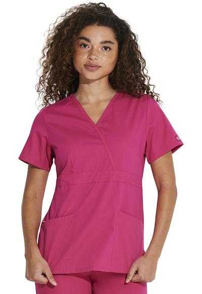 Dickies EDS Signature Women's Mock Wrap Top Pink