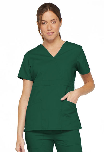 Dickies EDS Signature Women's Mock Wrap Top Green