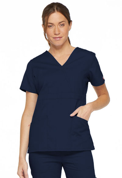 EDS Signature Women's Mock Wrap Top Blue