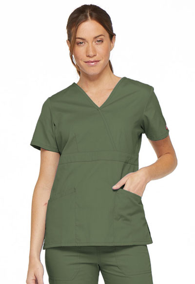 EDS Signature Women's Mock Wrap Top Green