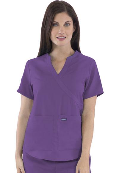Women's Mock Wrap Top Purple