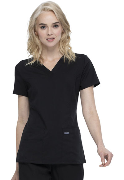 Women's V-Neck Top Black