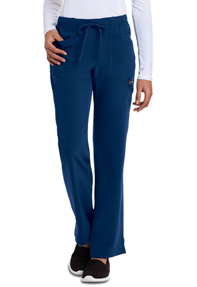 Careisma Charming Women's Low Rise Straight Leg Drawstring Pant Blue