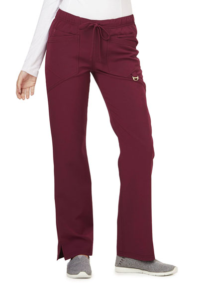 Careisma Charming Women's Low Rise Straight Leg Drawstring Pant Red