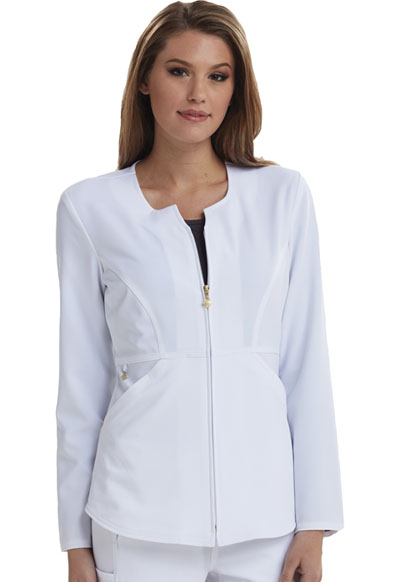 Fearless Women's Zip Front Jacket White