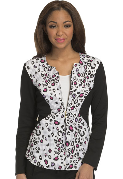Careisma Prints Women's Zip Front Jacket Wild About Houndstooth
