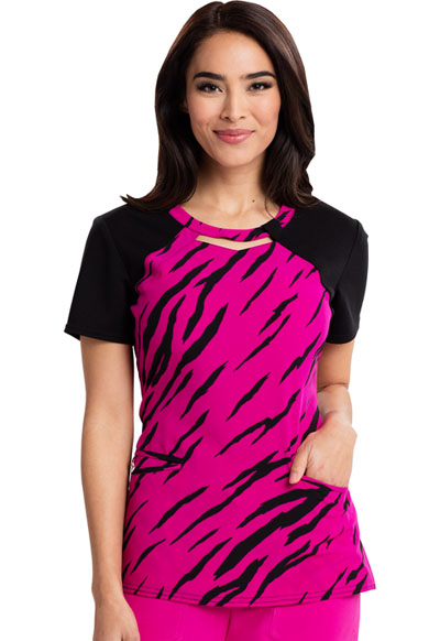 Careisma Prints Women's Round Neck Top Stay A Wild Hot Magenta