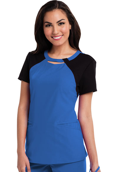 Fearless Women's Round Neck Top Blue