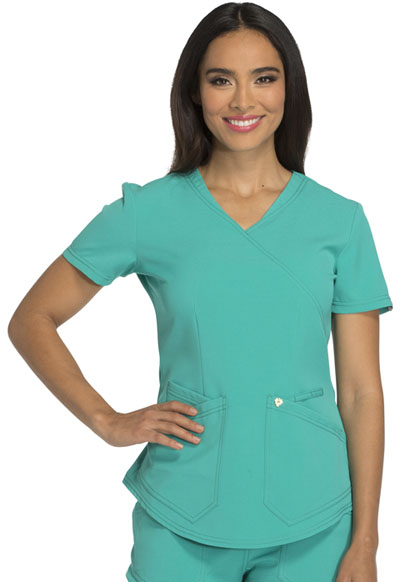 Careisma Charming Women's Mock Wrap Top Green