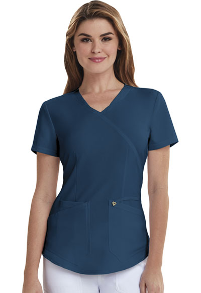 Careisma Charming Women's Mock Wrap Top Blue