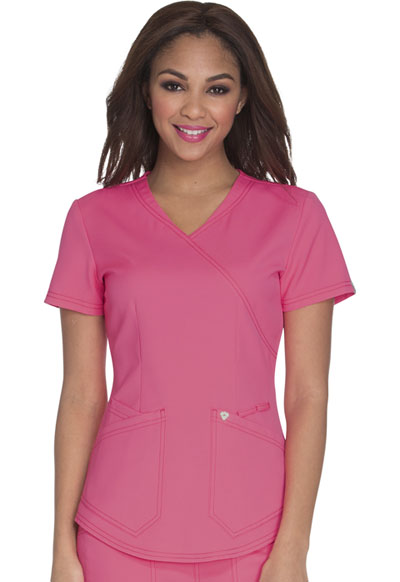Careisma Charming Women's Mock Wrap Top Pink