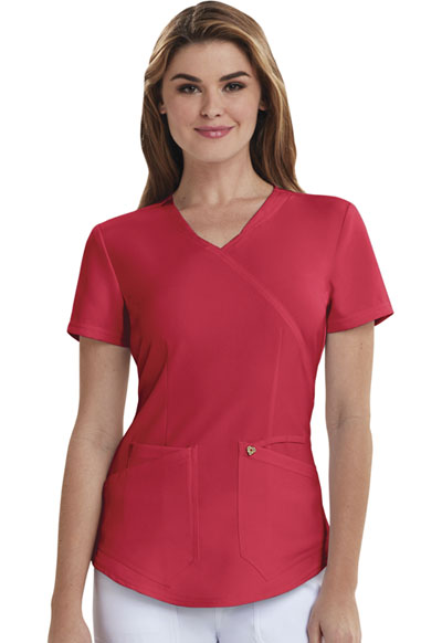 Careisma Charming Women's Mock Wrap Top Red