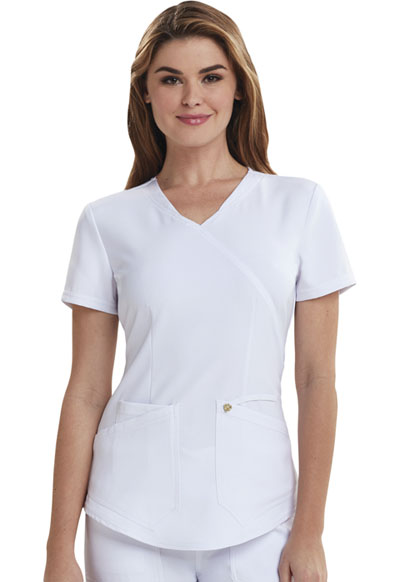 Careisma Charming Women's Mock Wrap Top White