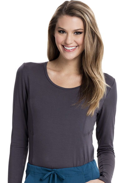 Careisma Underscrub Knit Tees Women's Long Sleeve Underscrub Knit Tee Gray