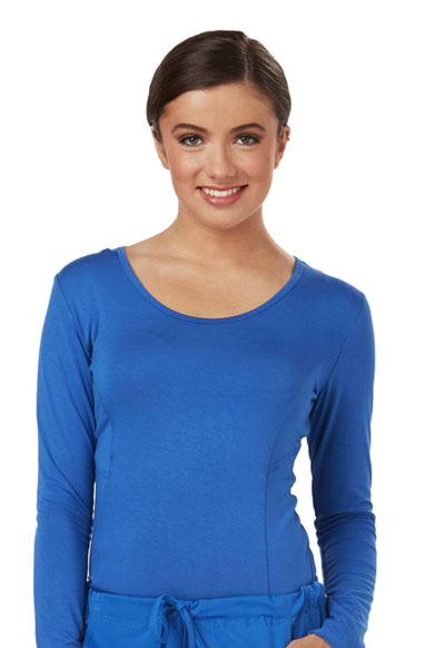 Careisma Underscrub Knit Tees Women's Long Sleeve Underscrub Knit Tee Blue
