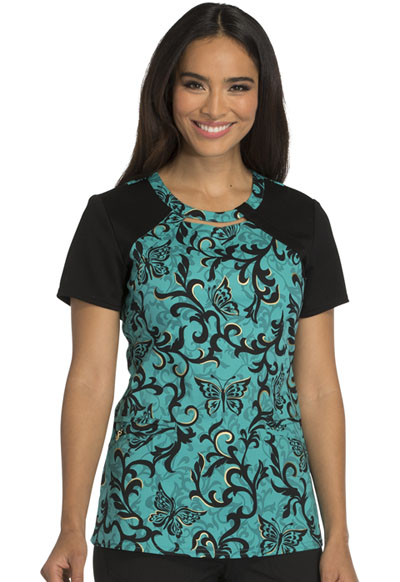 Careisma Prints Women's Round Neck Top Just Scroll With It