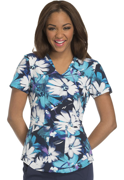 Careisma Prints Women's Mock Wrap Top Light Up The Bloom