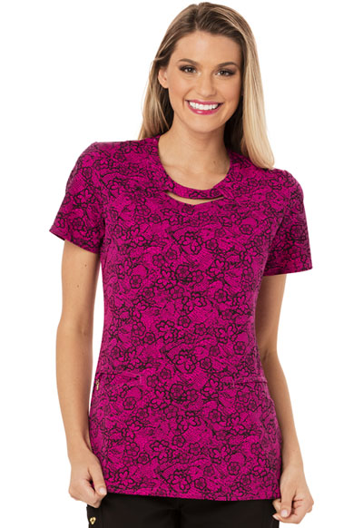 Careisma Prints Women's Round Neck Top Right Lace Right Time