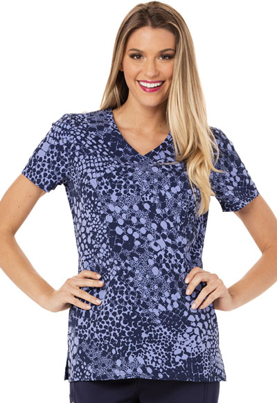 Careisma Prints Women's V-Neck Top In Spot Purr-suit