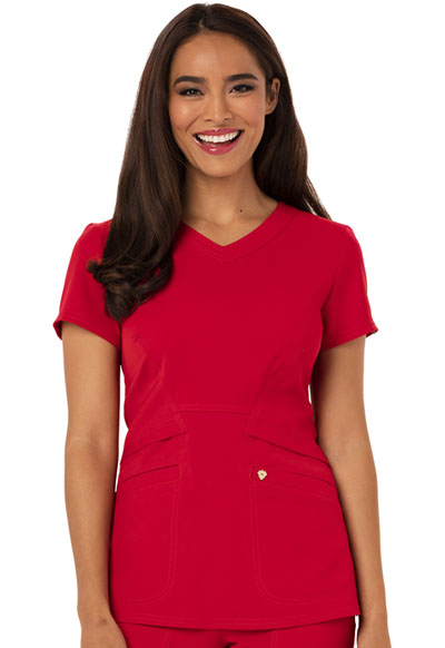 Careisma Charming Women's V-Neck Top Red