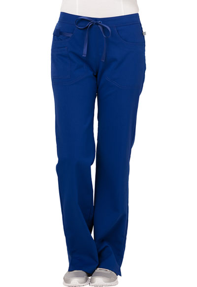 Code Happy Cloud Nine Women's Mid Rise Moderate Flare Leg Pant Blue
