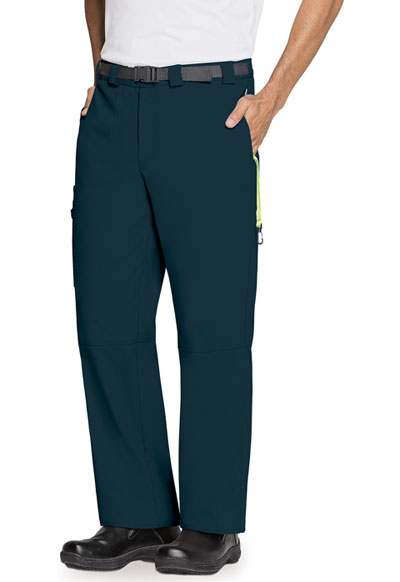 Bliss Men Men's Zip Fly Front Pant Blue